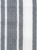 Amalfi Stripe Jet  Cotton fabric