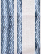 Amalfi Stripe Ocean Cotton fabric