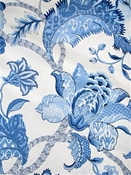 Arabesque Marina Jacobean Fabric