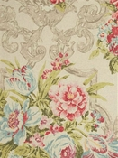 Ashmont Putty Floral Fabric