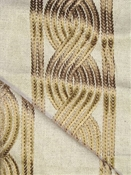 Augusta Jute Embroidered Fabric