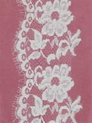 PB148639 White Alencon Lace Trim