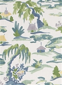 Baltic Pagoda Lakeside Chinoiserie Fabric