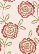 Bement Coral Embroidery Fabric