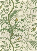Brunschwig & Fils Bird & Thistle Green