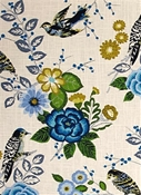Bountiful Cornflower Floral Fabric