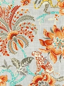 Braganza Persimmon Williamsburg Fabric