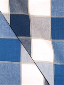 Buffalo Check Indigo Sky Cotton Fabric