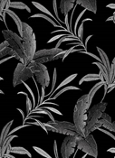 Burbank 947 Noir Tropical Embroidery