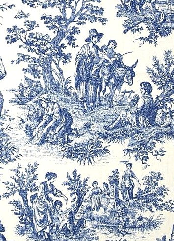 Charmed Life Cornflower Toile Fabric Fabric By Style