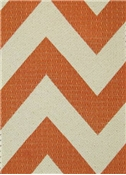 HGTV HOME Fabric Chevron Chic Papaya