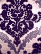 Yvette Purple Chenille Damask