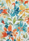 Desiree 504 Azure Floral Fabric