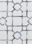 Dinah 145 Travertine Lattice Fabric