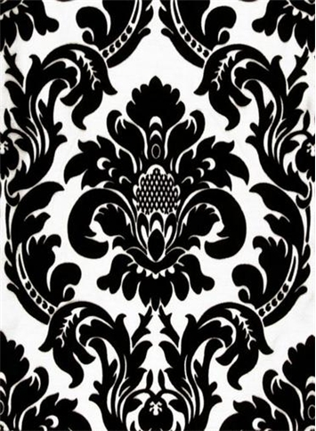 Dior Damask Black White   Black And White Drapery Fabric   Drapery Fabric