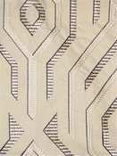 Domus Graphite Embroidered Fabric