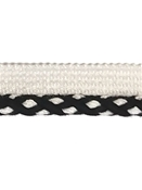 Sunbrella 3/8 Double Twist Lip Cord Black on White