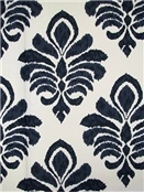 Elan Damask Indigo Crypton Fabric