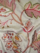 Embroidered Jacobean Linen