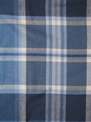 Emerson Midnight Blue Plaid Fabric