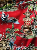 Emperor Ruby Chinoiserie Fabric