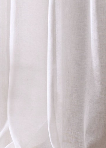 "120"" Wide Sheer White Linen 