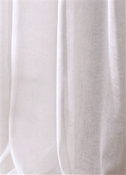 "120"" Wide Sheer White Linen"