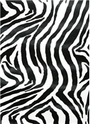 Faux Leather Zebra Black White