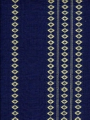 Finnish Stripe Royal Blue Cotton Jacquard