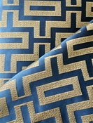 Fitch Navy Geometric Fabric
