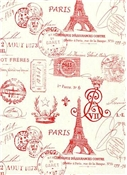 French Stamp Primary Red/Natural