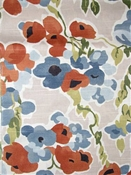 Fresh Bouquet Persimmon Floral Fabric