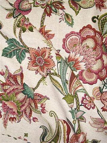 Garden Flora Geranium Jacobean Fabrics