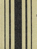 Harbor Stripe Black on Flax Preshrunk Cotton