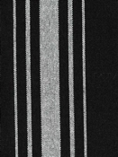 Harbor Stripe White on Black Preshrunk Cotton