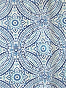 Blissfulness Indigo Outdoor Fabric