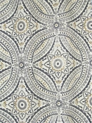 Blissfulness Pewter Outdoor Fabric