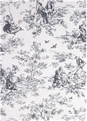 Kensington Garden Licorice Toile Fabric