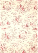 Kensington Garden Rose Toile Fabric
