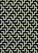 Kenya 916 Ebony Ivory Geometric Fabric