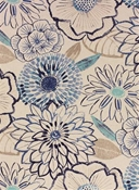 Laurent Denim Floral Fabric