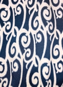 M10215 Indigo Scroll Jacquard