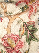 Madura Bisque Jacobean Fabric