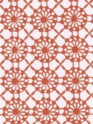 Mahal Print Coral White Cotton