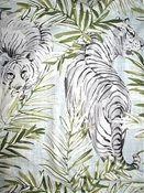 Maharani Snow - Tiger Fabric