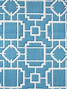 Makura 504 Azure Chinoiserie Lattice