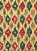 Micah 349 Vintage Red Ikat Fabric