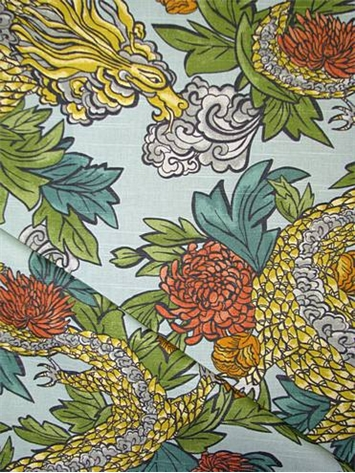 Ming Dragon Aquatint Fabric By Style Fabric By Pattern