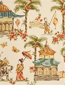 Mougin Chestnut Chinoiserie Charlotte Moss Decorator Fabric