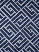 Mozambique 55 Navy Chenille Geometric